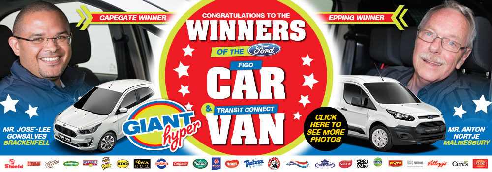 GIANT WIN A CAR OR VAN COMPETITION WINNERS WEB BANNER 19 OCTOBER 2018