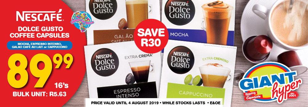 GIANT NESCAFE DOLCE CAPSULES WEB BANNER JUNE 2019
